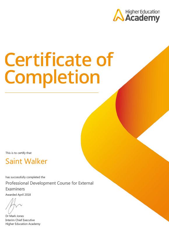 Saint Walker - EE_Certificate